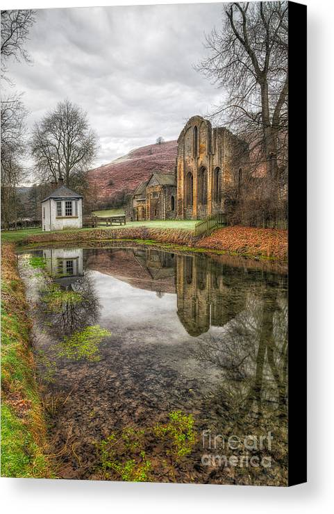13th Century Canvas Print featuring the photograph Abbey Reflection by Adrian Evans
