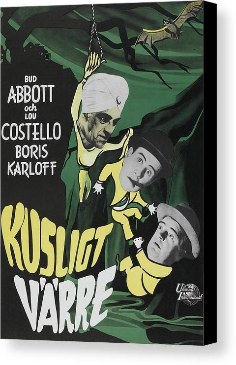 1940s Movies Canvas Print featuring the photograph Abbott And Costello Meet The Killer by Everett