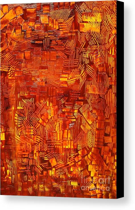 Autumn Canvas Print featuring the painting An Autumn Abstraction by Michael Kulick