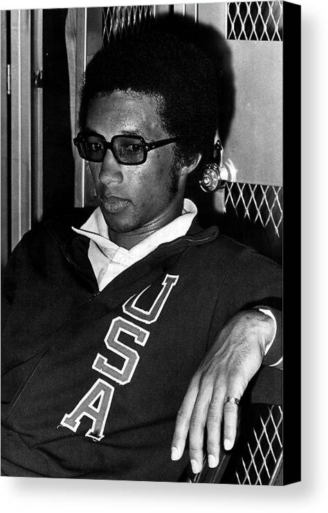 Retro Images Archive Canvas Print featuring the photograph Arthur Ashe With Sunglasses by Retro Images Archive