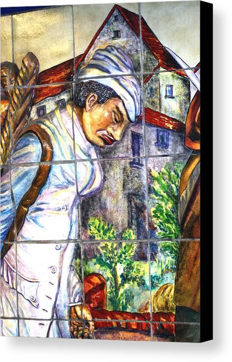 Paris Canvas Print featuring the photograph Bastille Metro No 3 by A Morddel