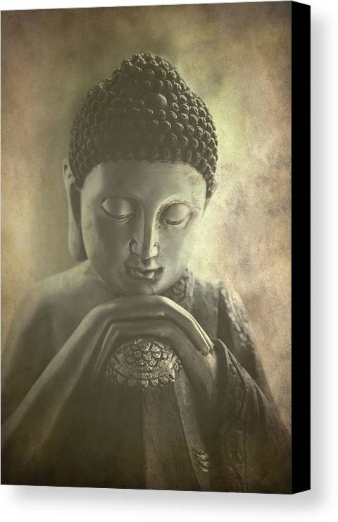 Ancient Canvas Print featuring the photograph Buddha by Madeleine Forsberg
