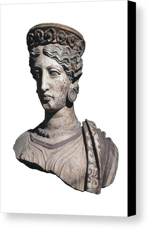 Vertical Canvas Print featuring the photograph Bust Of A Woman. 4th C. Bc by Everett