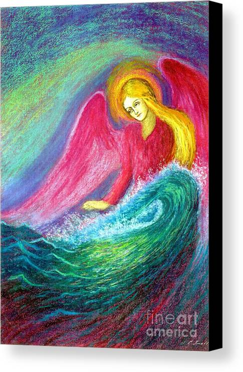 Angel Canvas Print featuring the painting Calming Angel by Jane Small