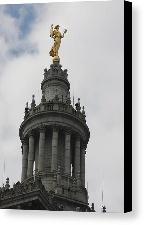 Manhattan Canvas Print featuring the photograph Civic Fame - Victory And Triumph by Vadim Levin