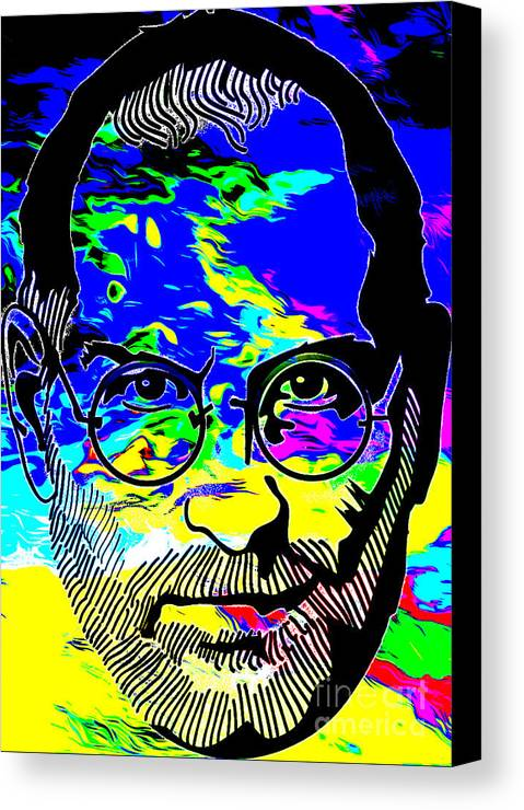 People Canvas Print featuring the digital art Colorful Jobs by Algirdas Lukas