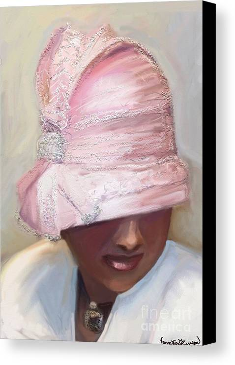 African American Art Canvas Print featuring the digital art Crowns by Vannetta Ferguson