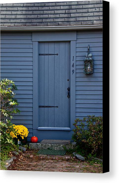 Maine Canvas Print featuring the photograph Doorway In Maine by Frank Tozier