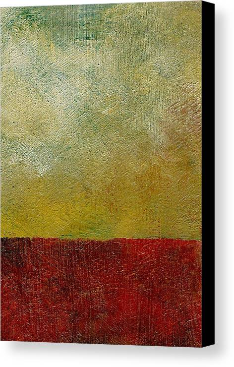 Abstract Landscape Canvas Print featuring the painting Earth Study One by Michelle Calkins