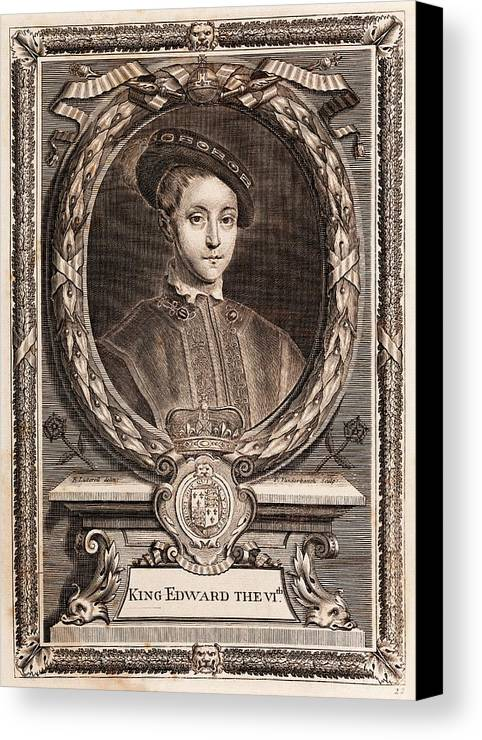 Edward Vi Canvas Print featuring the photograph Edward Vi by Middle Temple Library