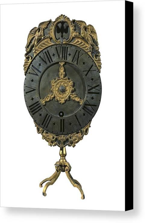Vertical Canvas Print featuring the photograph English Lantern Clock 18th C.. Baroque by Everett