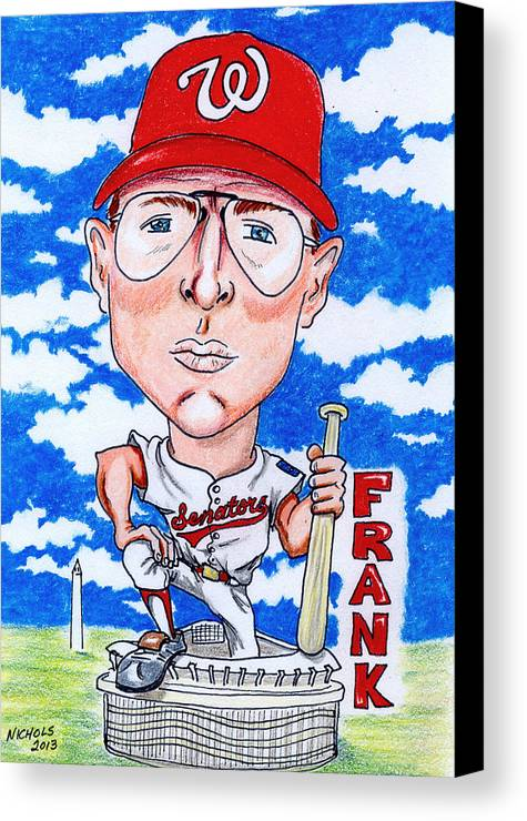 Frank Howard Canvas Print featuring the drawing Frank_howard by Paul Nichols