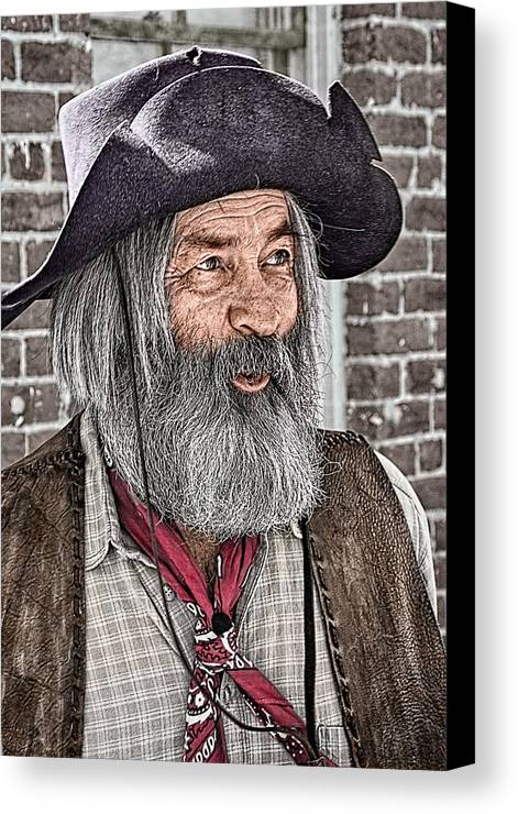 Gabby Hayes Canvas Print featuring the photograph Gabby Look Alike by Priscilla Burgers