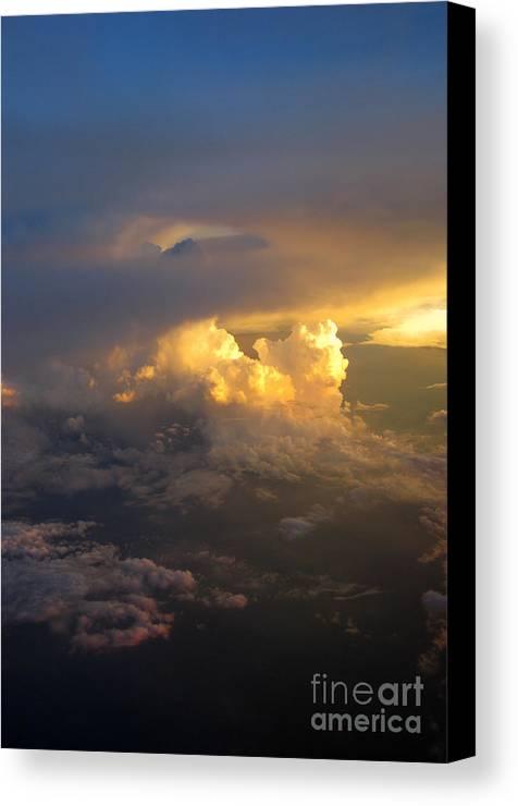 Cloud Canvas Print featuring the photograph Golden Rays by Ausra Huntington nee Paulauskaite