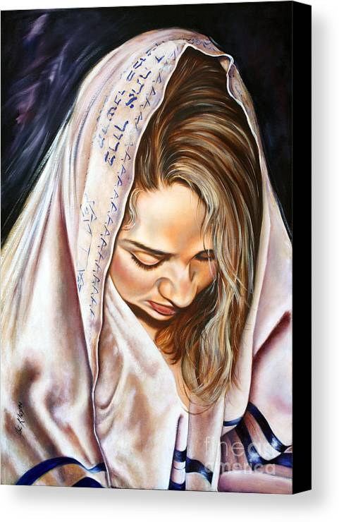 Biblical Canvas Print featuring the painting If My People by Ilse Kleyn
