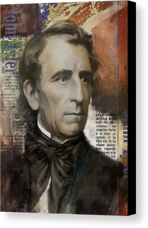 John Tyler Canvas Print featuring the painting John Tyler by Corporate Art Task Force