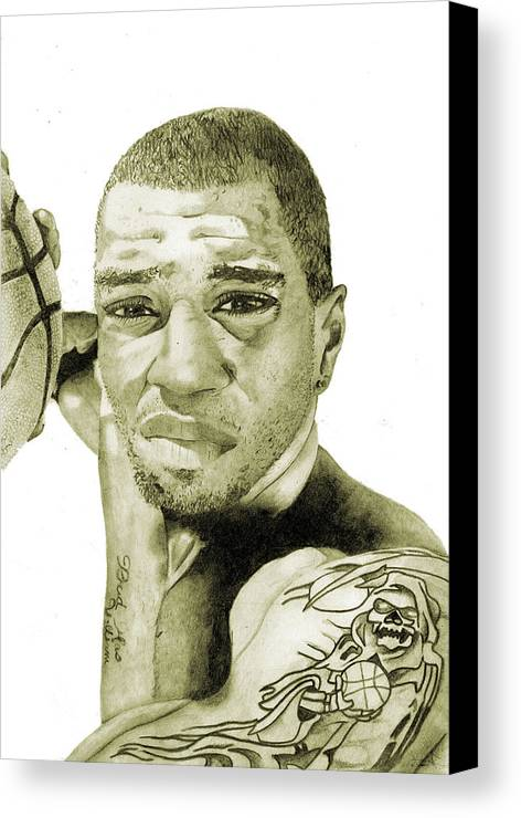 Kenyon Canvas Print featuring the painting Kenyon Martin by Michael Pattison