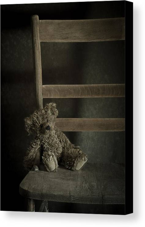 Bear Canvas Print featuring the photograph Left Behind by Amy Weiss
