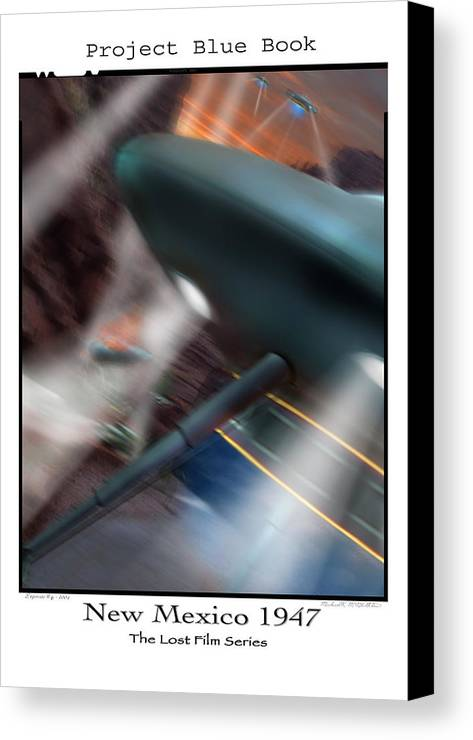 Ufo Canvas Print featuring the photograph Lost Film Number 6 by Mike McGlothlen