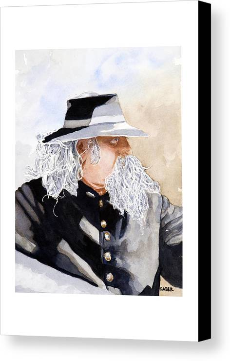 Military Canvas Print featuring the painting Military Man by Dawn Faber