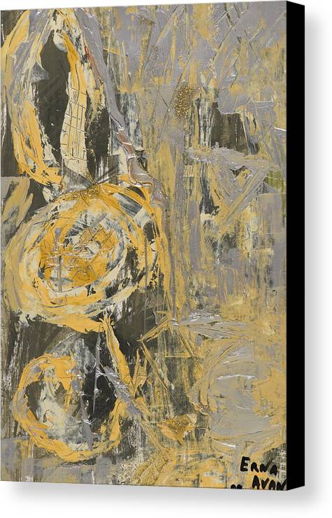 Abstract Canvas Print featuring the painting Muse by Erna Avan