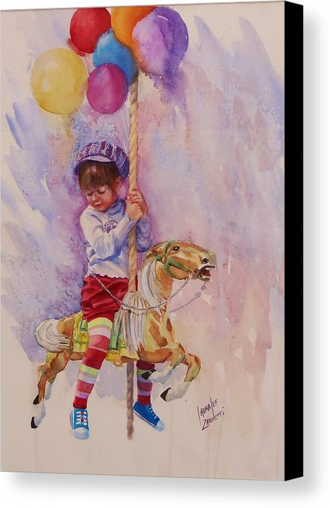 Water Color Painting Canvas Print featuring the painting Norwood Day by Laura Lee Zanghetti