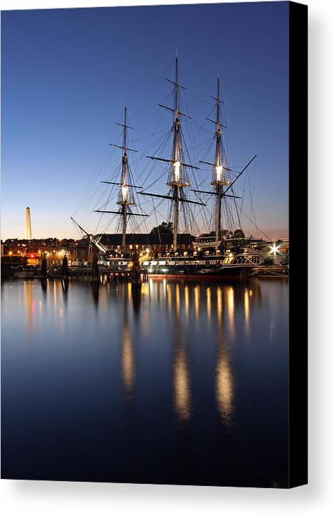 Boston Canvas Print featuring the photograph Old Ironsides by Juergen Roth