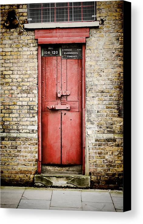 Door Canvas Print Featuring The Photograph Old Red Door By Heather Applegate