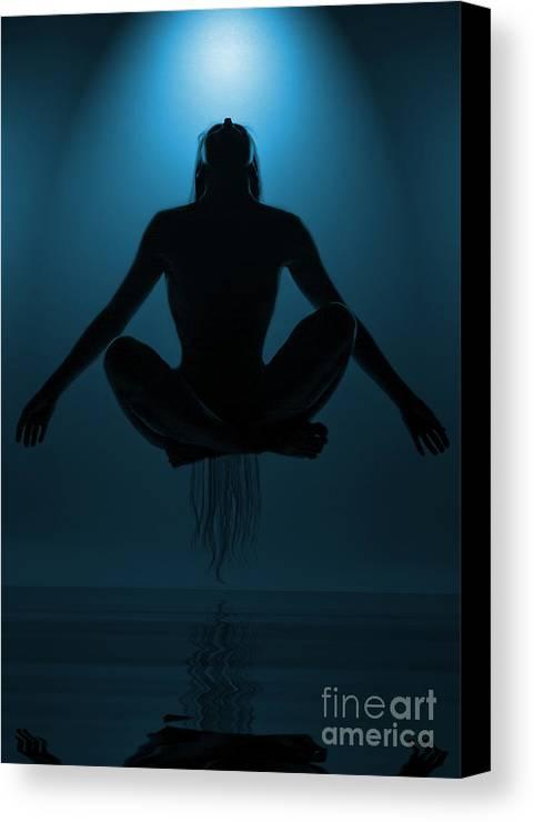 Festblues Canvas Print featuring the photograph Reaching Nirvana.. by Nina Stavlund