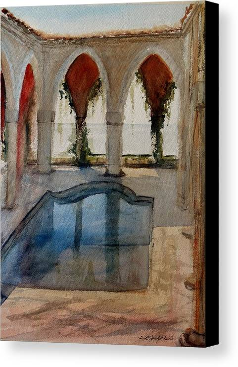 Bulgaria Canvas Print featuring the painting Reflections Of The Past by Sandra Strohschein