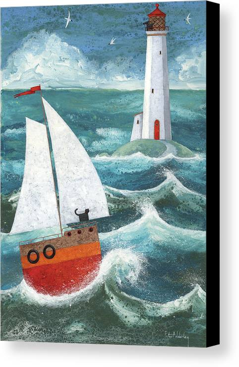 Animal Canvas Print featuring the photograph Safe Passage Variant 1 by Peter Adderley