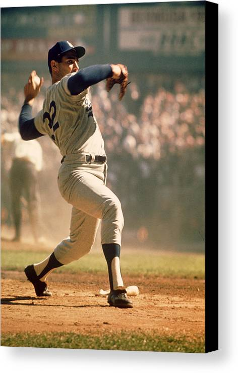 Marvin Newman Canvas Print featuring the photograph Sandy Koufax by Retro Images Archive