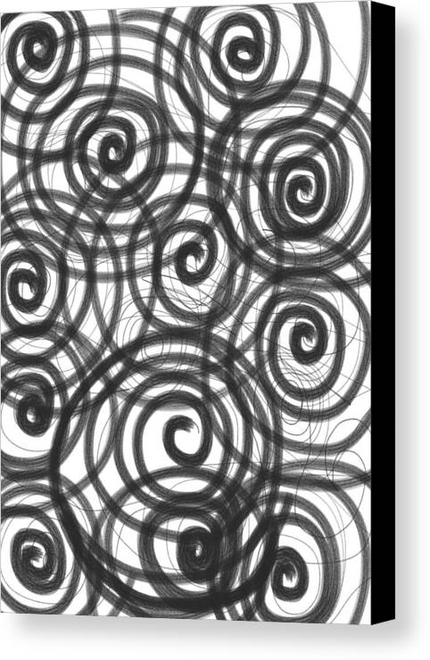 Spiral Canvas Print featuring the painting Spirals Of Love by Daina White