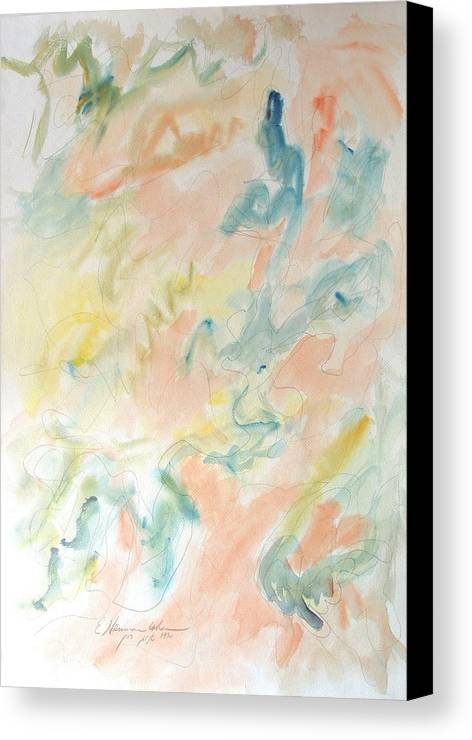 Springtime Suffusions Canvas Print featuring the painting Springtime Suffusions by Esther Newman-Cohen