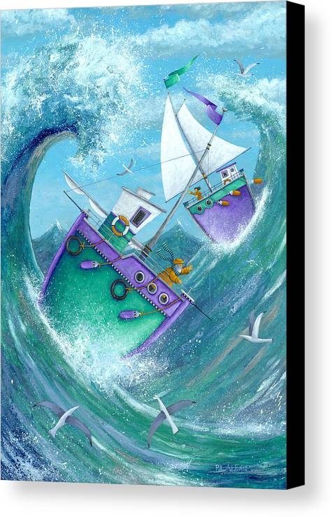 Peter Adderley Canvas Print featuring the photograph Stormy Weather by Peter Adderley
