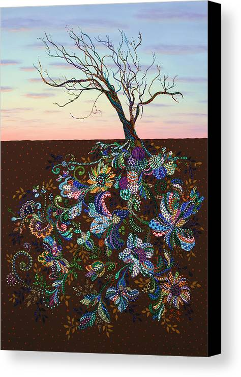 Tree Canvas Print featuring the painting The Journey by James W Johnson