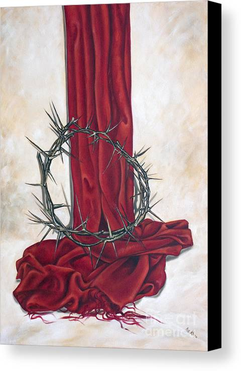 Crown Canvas Print featuring the painting The King's Crown by Ilse Kleyn
