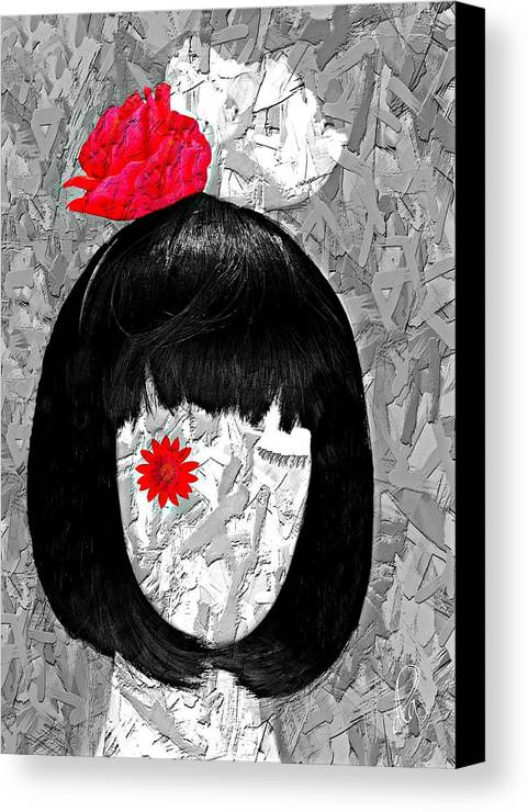 Mannequin Canvas Print featuring the digital art The Red Eye by Diana Angstadt