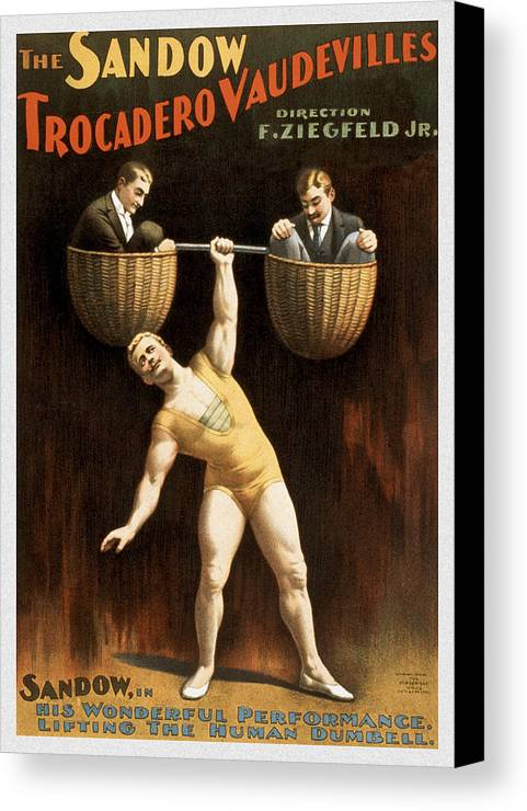 Entertainment Canvas Print featuring the drawing The Sandow by Aged Pixel