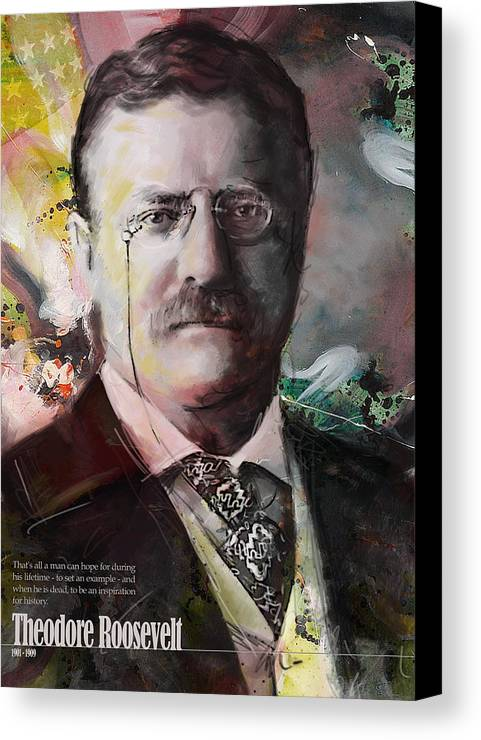 Theodore Roosevelt Canvas Print featuring the painting Theodore Roosevelt by Corporate Art Task Force