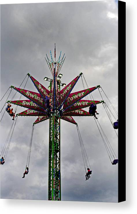 Fair Canvas Print featuring the photograph Thrill Tower by Skip Willits
