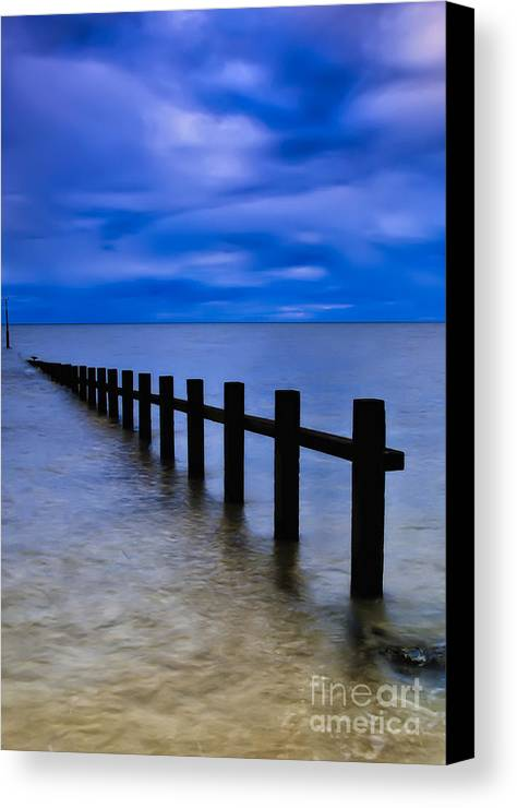 Beach Canvas Print featuring the photograph Welsh Seascape by Adrian Evans