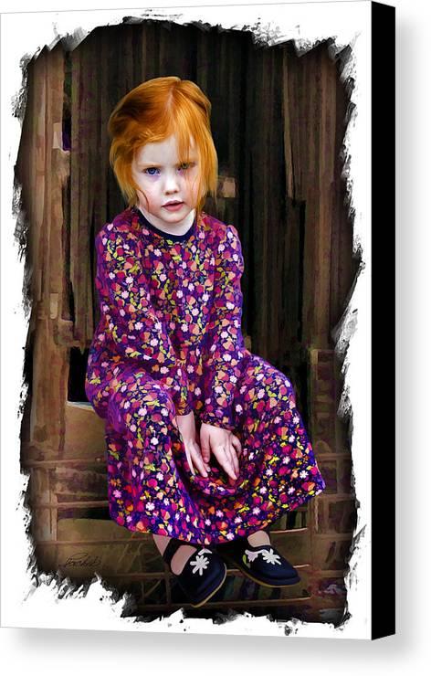 Child Canvas Print featuring the digital art Western Princess by Pachek
