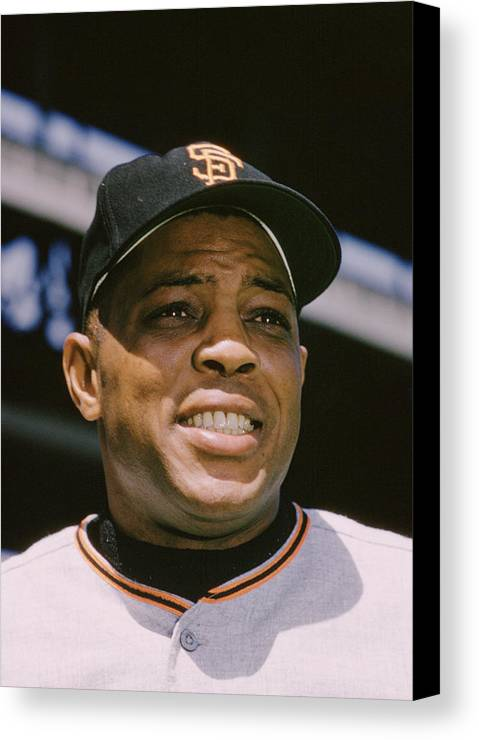 Classic Canvas Print featuring the photograph Willie Mays Close-up by Retro Images Archive