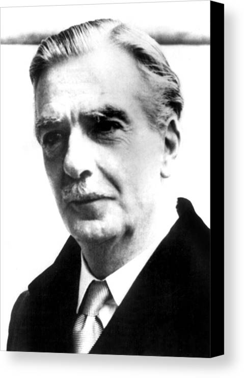 1950s Canvas Print featuring the photograph British Prime Minister Anthony Eden by Everett