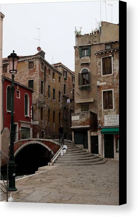Venice Canvas Print featuring the photograph A Quiet Street by Kenneth Drylie