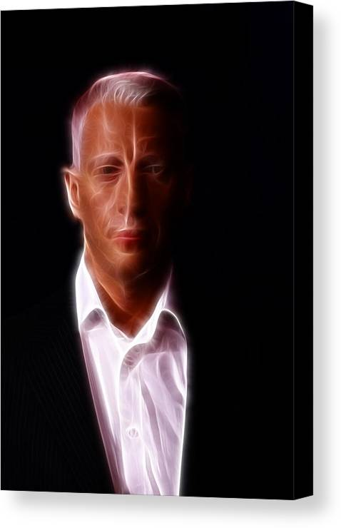 Lee Dos Santos Canvas Print featuring the photograph Anderson Cooper - Cnn - Anchor - News by Lee Dos Santos