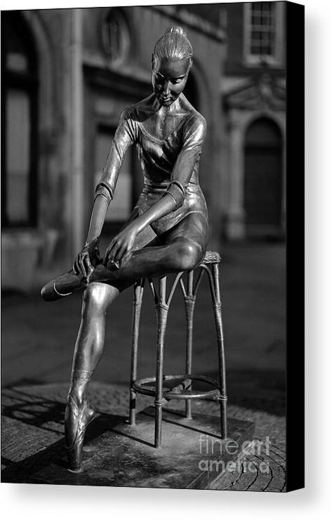 Covent Garden Street Performers Canvas Print featuring the photograph Ballerina Covent Garden London by Aldo Cervato