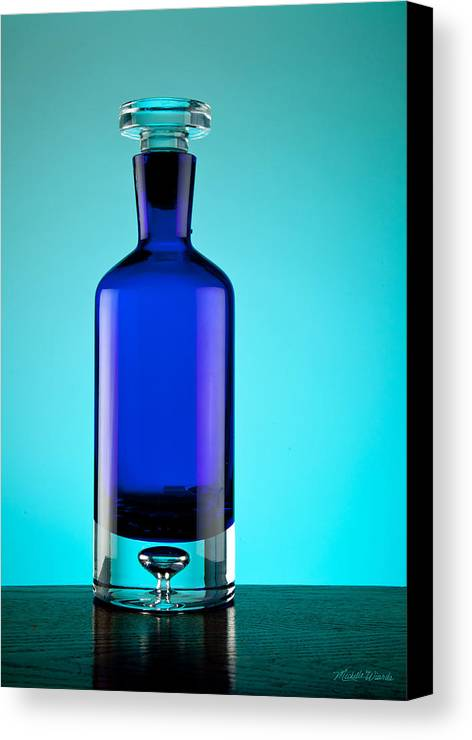 Glass Canvas Print featuring the photograph Blue Bottle by Michelle Wiarda