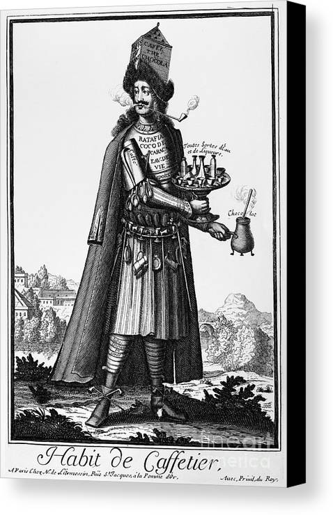1690 Canvas Print featuring the photograph Cafe Owner, C1690 by Granger